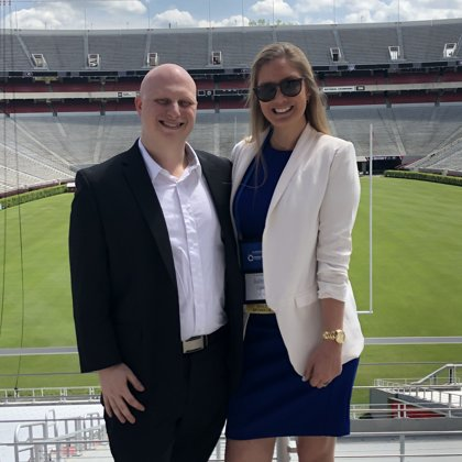 Sanford Stadium with Mike and Juliette